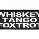 Whiskey Tango Foxtrot Biker Motorcycle Biker vest jacket Patches Funny