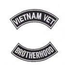 VIETNAM VET BROTHERHOOD PATCHES BACK PATCH ROCKERS SET NEW