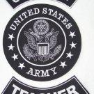 U.S. ARMY TEACHER Patch Set White on Black Background