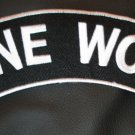 LONE WOLF PATCH ROCKER BLACK FOR BIKER MOTORCYCLE PATCH FOR VEST JACKET NEW