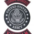 US ARMY PATCHES SET COMBAT WOUNDED VIETNAM ROCKERS & CENTER PATCH SET