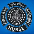 US ARMY 5 PIECE SET COMBAT VETERAN COMBAT WOUNDED PRAYER WARRIOR NURSE NEW