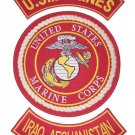 US MARINES PATCHES 3 PC SET IRAQ AFGHANISTAN BACK PATCHES FOR VEST JACKET