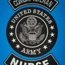 US ARMY NURSE 3 PATCH SET COMBAT WOUNDED FOR VEST JACKET FOR VETERANS PATRIOT
