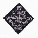 """Keep Calm and Ride On Patch Badge Biker Motorcycle Jacket Vest Shirt Size 3"""""""