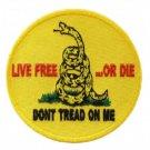 Don't Tread on Me Large Back Patch for Patriot Motorcycle Biker Vest Jacket Tea