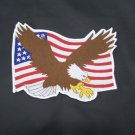 Eagle & US Flag Back Patch for Vest or Jacket Classic Style Patch badge Emblem