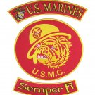 3PC US MARINES CORPS SEMPRE FI USMC MARINES BULL DOG PATCHES FOR VEST JACKET NEW