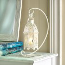 ON SALE!! White Fancy Candle Lantern With Stand