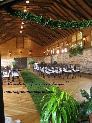 Free Shipping 4'X20' sheet moss runner wedding aisle venue decorations table arch