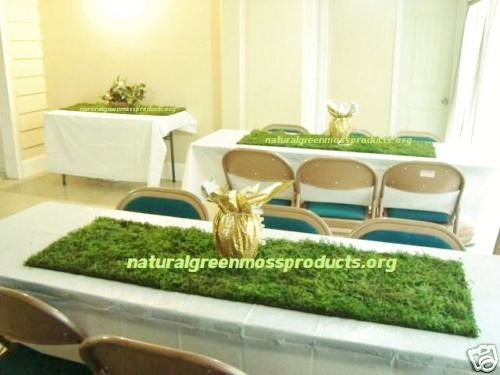 12 Sheet Moss Runners 16''X48'' centerpieces table decor decorations