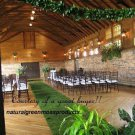 FREE SHIPPING 4X25 Natural moss aisle Runner,Garden Wedding,setting,placemats,Rustic-Bohemain
