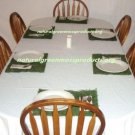 "6 Moss chargers 12""X16"" chargers moss covered placemats table cloth"
