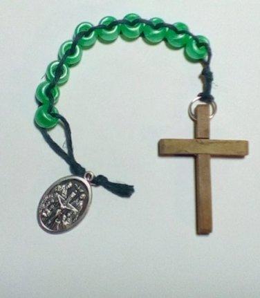 Hand Beaded Sliding Bead One Decade Rosary