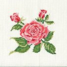 ROSE Finished Completed Stitchery Hand Made