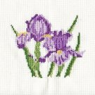IRIS Finished Completed Stitchery Hand Made