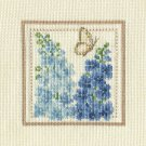 LARKSPUR Finished Completed Stitchery Hand Made