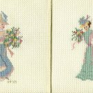 SET OF VICTORIAN LADIES Finished Completed Stitcheries Hand Made