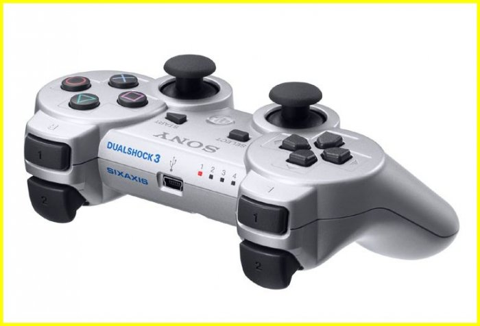 Silver DUAL SHOCK 3 DUALSHOCK 3 PS3 RUMBLE CONTROLLER