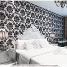 Luxurious 3d Stereo Velvet Non-woven Wallpaper blackColor 21002