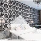 Luxurious 3d Stereo Velvet Non-woven Wallpaper blackColor 21002