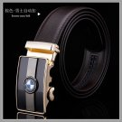 D&L Fashion  Mens Automatic Alloy BMW Buckle Leather Belt