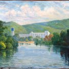 Landscape Painting Original oil painting Soviet of the USSR Ukraine