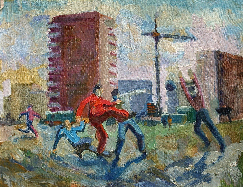 USSR Soviet propaganda Vintage Art October Revolution bolsheviks paintings Socialist realism