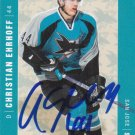 Christian Ehrhoff Signed Sharks Card Kings