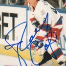 Randy Carlyle Signed Jets Card Penguins