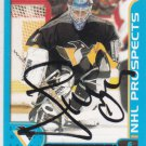Johan Hedberg Signed Penguins Prospects Card Thrashers - Devils