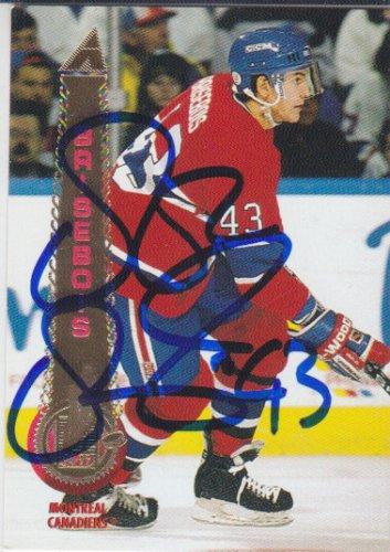 Patrice Brisebois Signed Canadiens Card