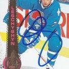 Curtis Leschyshyn Signed Nordiques Card Avalanche - Senators