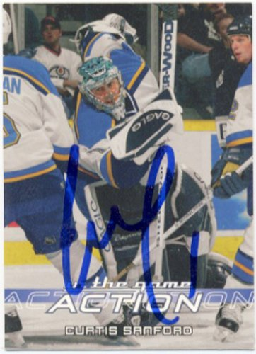 Curtis Sanford Signed Blues Card Lokomotiv