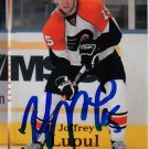 Joffrey Lupul Signed Flyers Card Maple Leafs