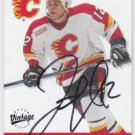 Jarome Iginla Signed Flames Card Avalanche