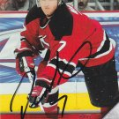 Paul Martin Signed Devils Card Penguins - Sharks