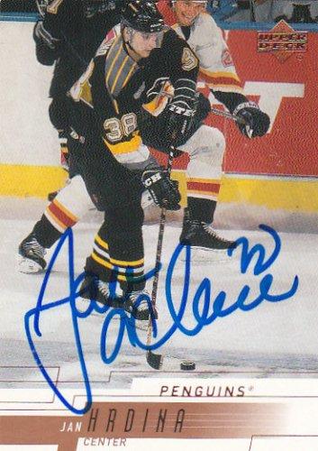 Jan Hrdina Signed Penguins Card HV71