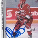 Niclas Wallin Signed Hurricanes Rookie Card Sharks
