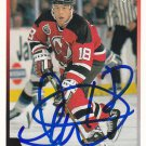 Scott Pellerin Signed Devils Card Bridgeport