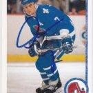 Curtis Leschyshyn Autograph UD Nordiques Card Senators - Avalanche
