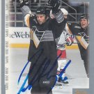 Robert Lang Signed Penguins Card  Kings - Red Wings - Canadiens
