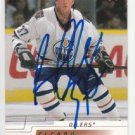 Daniel Cleary Signed Oilers Card Red Wings