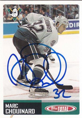 Marc Chouinard Signed Mighty Ducks Card Kolner Haie - Wild