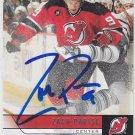 Zach Parise Signed UD Devils Card Wild