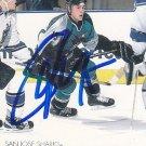 Marco Sturm Signed Sharks Card Bruins