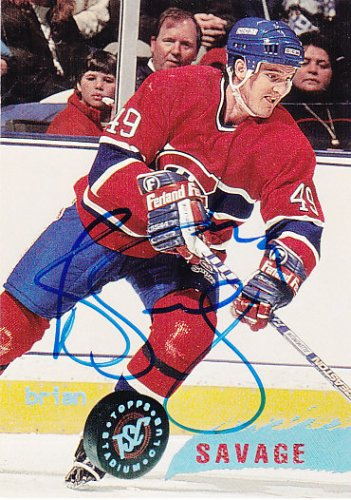 Brian Savage Signed Canadiens Card Coyotes