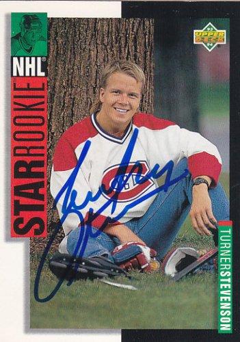 Turner Stevenson Signed Canadiens Star Rookie Card