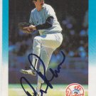 Rick Rhoden Signed Yankees Card Pirates