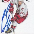 Ron Francis Signed Hurricanes Card Penguins